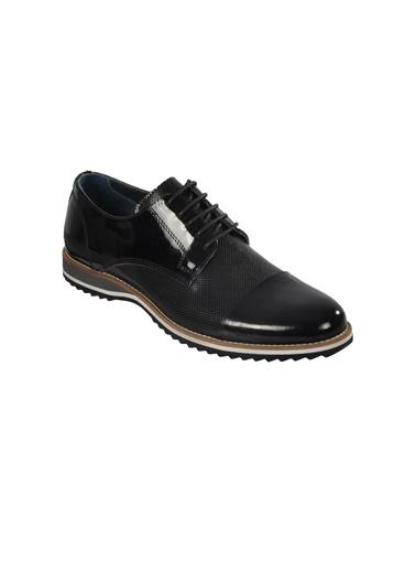Luciano Bellini E405 Siyah Rugan Erkek Günlük Hakiki Deri Ayakkabı Siyah